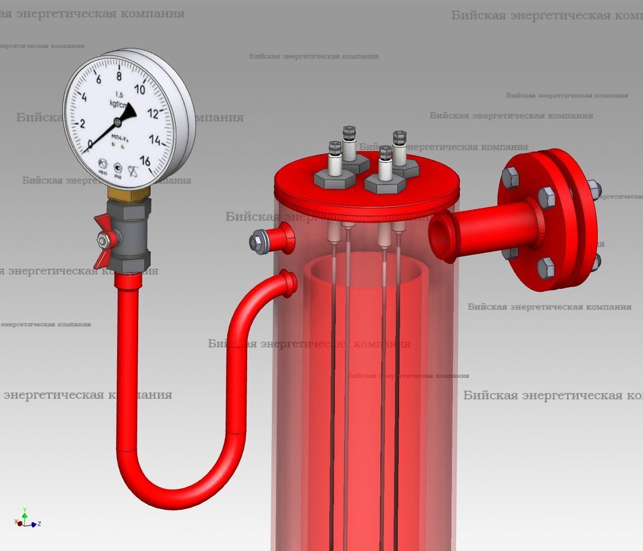 Схема измерения уровня жидкости в баке
