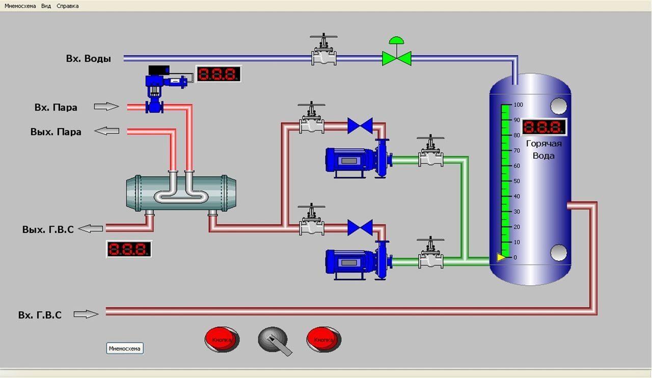 паровой котел де 6,5-14 гм схема управления