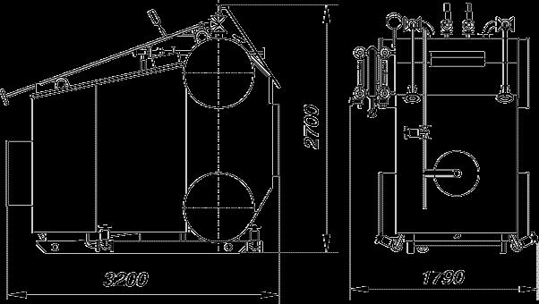 Котел Е-1,0-0,9М предназначен для получения пара, находящегося под избыточным давлением не более 0,8 МПа (8 кгс/см2...